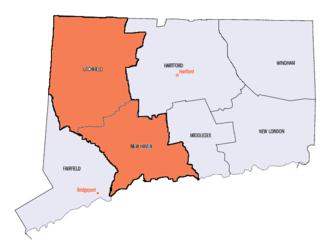 1st Connecticut Regiment (1775) - Recruitment areas