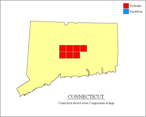 United States House of Representatives elections, 1796 - Image: Connecticut 1796