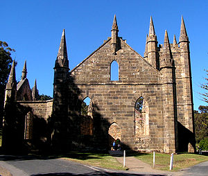 Tasmanian Gothic - The neo-gothic convict church at Port Arthur