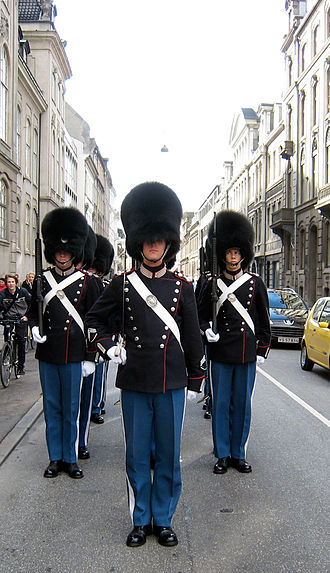 Conscription in Denmark - Conscription duty as Royal Life Guards.