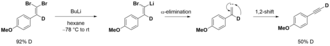 Corey–Fuchs reaction - Deuterium-labelling shows the involvement of carbenes in the second part of the Corey-Fuchs reaction.