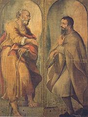 Saint Joseph and a follower