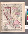 County map California; Map of the settlements in the Great Salt Lake country, Utah (inset); San Francisco Bay and vicinity (inset) (NYPL b13663520-1510822).jpg
