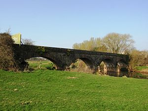 Chard branch line - The bridge over the River Tone at Creech St Michael