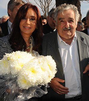 Español: La presidenta Cristina Fernández junt...
