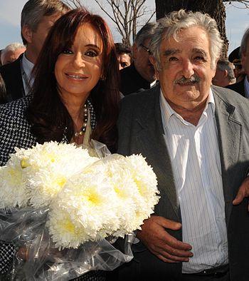 Cristina Fernandez y Jose Mujica