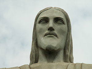 Gheorghe Leonida - A close-up view of the face of Christ the Redeemer.