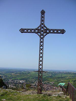 Poligny, Jura - Image: Croix du Dan