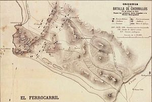 Battle of San Juan and Chorrillos - Image: Croquis de la Batalla de Chorrillos