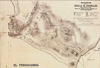 Battle of San Juan and Chorrillos - Image: Croquis de la Batalla de Chorrillos