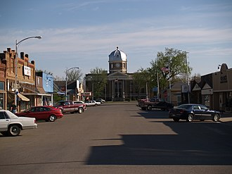 Crosby, North Dakota - Business district in Crosby