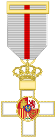 Cross of the Military Merit (Spain) - White Decoration.svg