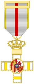 Cross of the Military Merit (Spain) - Yellow Decoration.svg