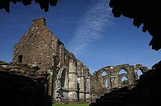 Crossraguel Abbey monastery ruins in South Ayrshire, Scotland, UK