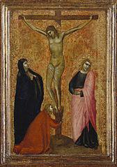 Crucifixion avec les saints