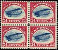 Curtis Jenny 24c Blk4 1918 issue.JPG