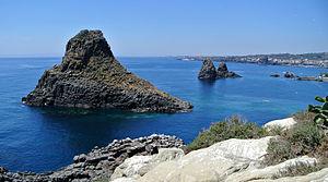 Cyclopean Isles - Cyclopean Isles as seen from Lachea.