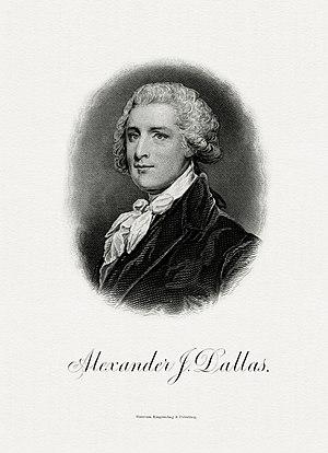 Alexander J. Dallas (statesman) - Image: DALLAS, Alexander J Treasury (BEP engraved portrait)