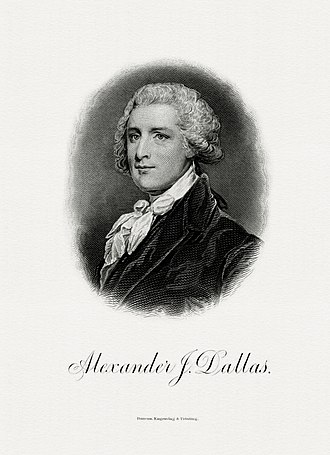 Alexander J. Dallas (statesman) - Image: DALLAS, Alexander J Treasury (BEP engraved portrait)