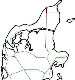kart over nordjylland Hirtshalsbanen – Wikipedia kart over nordjylland