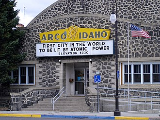 Arco, Idaho - City office / Recreation Hall on Main Street in Arco