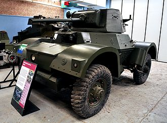 Daimler Armoured Car - Daimler Mark II armoured car at the Bovington Tank Museum