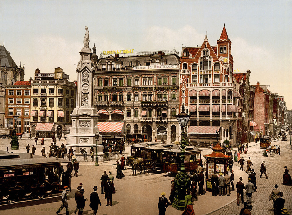 File:Dam square, Amsterdam, North Holland, the Netherlands, 1890s.jpg - Wikimedia Commons