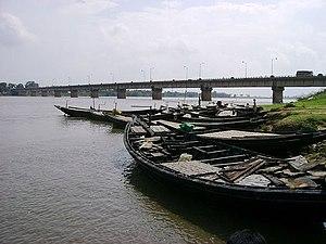 Damodar River - Krishak Setu over the Damodar River, near Bardhaman