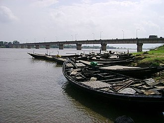 Damodar River - Krishak Setu over the Damodar River, near Bardhaman