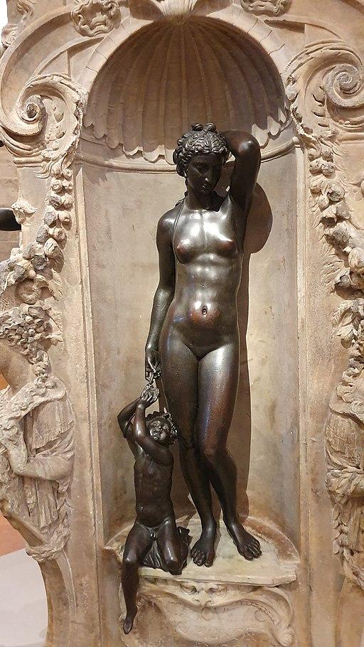 Danae at Perseus by Benvenuto Cellini - Pedestal-Bargello