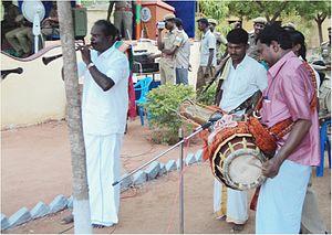 Karagattakaran - Image: Dance musicians,Karakattam ,Tamil Nadu 355