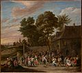 David Teniers the Younger - Peasants Dancing and Feasting DP120379.jpg