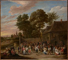 Peasants Dancing and Feasting