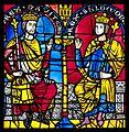 David et Salomon, vitrail roman, Cathédrale de Strasbourg.jpg