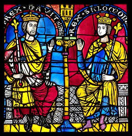 David et Salomon, vitrail roman, Cathédrale de Strasbourg