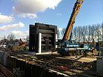 De Julianasluis in Gouda met de nieuwe kolk in aanbouw (06).JPG