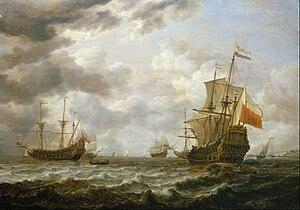 Dutch ship Brederode - Image: De Vlieger, Brederode off Hellevoetsluis