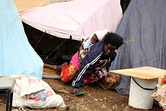 Xenophobia in South Africa - Burundian refugee afraid of re-integration into South African society living rough, 2009