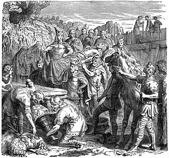 Cosenza - Death of Alaric I, buried in the bed of the Busento River