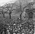 Demonstraties in Brussel tegen de Eenheidswet, toespraak Robert Lambion, Bestanddeelnr 911-9371.jpg