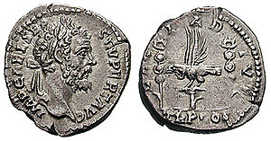 Legio I Adiutrix - I Adiutrix celebrated by Septimius Severus with this denarius. I Adiutrix supported Severus in his fight for purple.