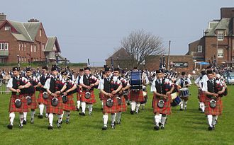Stirlingshire - Denny and Dunipace Pipe Band at Dunbar, 2008