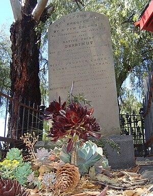 Derrimut (Indigenous Australian) - Derrimut's gravestone in Melbourne General Cemetery