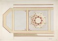 Design for Ceiling in Four Parts, One Decorated with a Compass Motif, in Rust and Olive Green, Moorish Motifs MET DP805629.jpg