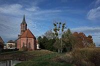 Dessau-Roßlau, Großkühnau, church, cypress trees.jpg