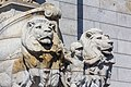 """Detail of the lions and child, """"Patriotism"""", Shrine of Remembrance, Melbourne 2017-10-28.jpg"""