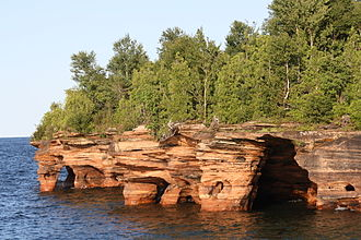 Apostle Islands - Sea caves at Devils Island