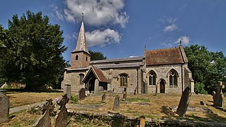 Didcot - All Saints' parish church, parts of which are 12th-century