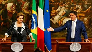 Brazil–Italy relations - Former President Dilma Rousseff and former Prime Minister Matteo Renzi in Rome