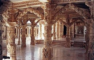 Vastupala - Interior of the Luniga-vasahi temple on Mount Abu